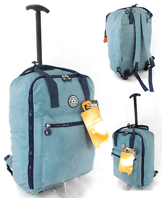 £17.99 • Buy Multi Use 18  Carry On Cabin Approved Backpack Trolley Wheeled Luggage Case Bag