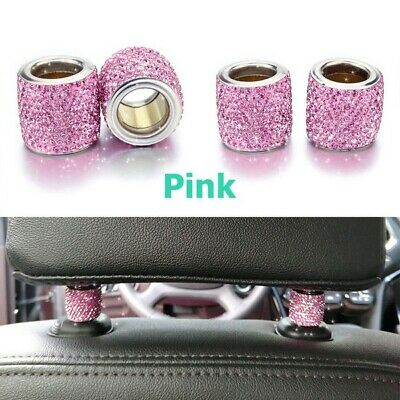 $1.69 • Buy 1 Pc Crystal Car Seat Headrest Decoration Charms Pink Car Accessories For Women