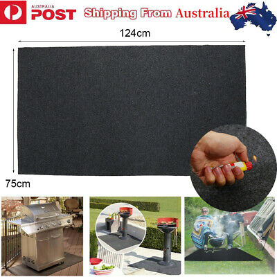 AU24.44 • Buy Fire Retardant BBQ Floor Mat Rug Barbecue Grill Pad Protect Floor Deck 124x 75cm