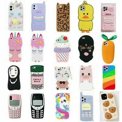 AU5.42 • Buy Cute 3D Cartoon Silicone Kids Cover Case For IPhone XR 6S 7 8 Plus 5 Touch 7 5 6