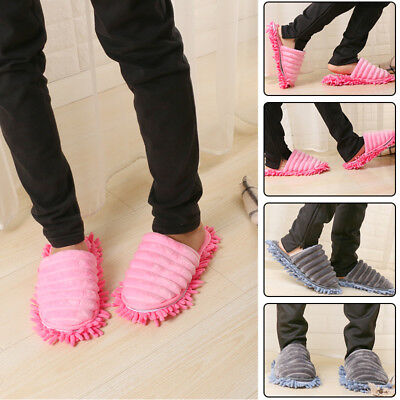 Microfibre Duster Shoe Sock Slippers Mop Dust Remover Cleaning Floor Polishers • 6.49£