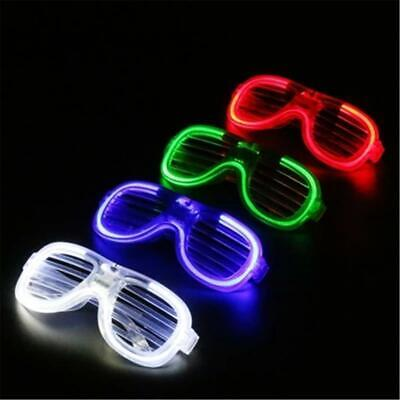 LED Glow EL Glasses Shades Light Up Flashing Sunglasses Bar Party Rave Funny New • 2.26£