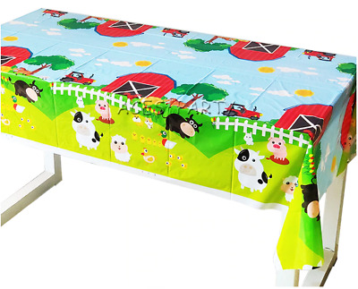 £2.99 • Buy Farm Animals Birthday Party Supplies Tableware Table Cover Plastic Decorations