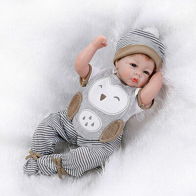 $ CDN60.45 • Buy 21  Handmade Vinyl Silicone Reborn Baby Dolls Lifelike Doll Boy Girl Cloth Body