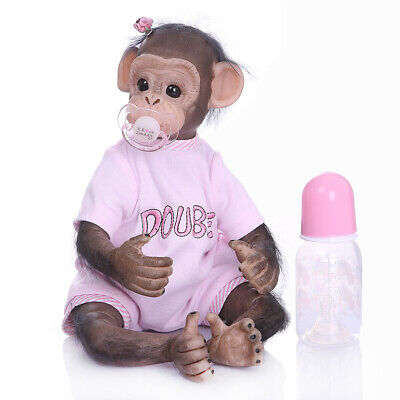 16inch Reborn Baby Monkey Doll Newborn Monkey Doll Animals Toys • 49.99£