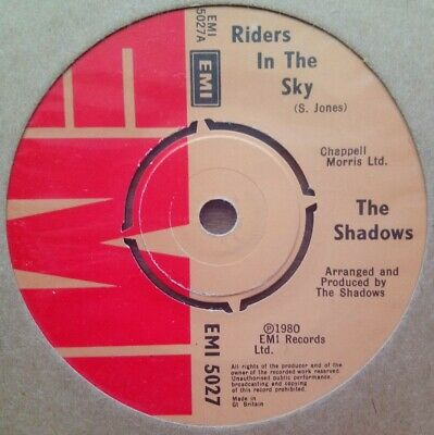 The Shadows - Riders In The Sky - Vinyl Record 45 RPM • 3.49£