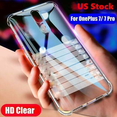 AU11.57 • Buy For OnePlus 5/5T/6/6T/7/7 Pro Shockproof Crystal Clear Case Cover+Tempered Glass
