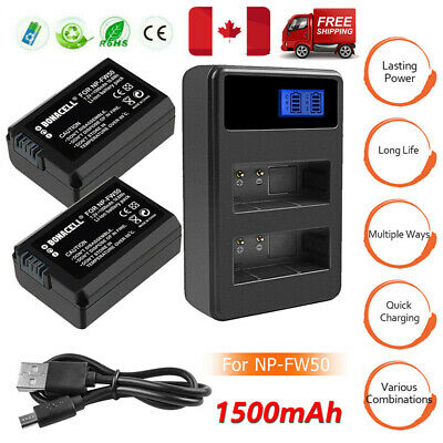 $ CDN29.99 • Buy 2X 1500mAh NP-FW50 Battery / Charger For Sony Alpha A3000 A5000 A6300 A7S A7S II