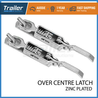 AU47.62 • Buy X2 Heavy Duty Over Centre Fastener Lock Latch (Weld On) Trailer Tray Ute Camper