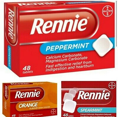 Rennie Orange Peppermint Spearmint Ice 48 Tablets Heartburn Indigestion Relief • 4.95£