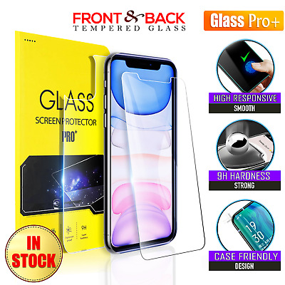 AU3.95 • Buy Apple IPhone 11 Pro XS Max X XR 7 8 Tempered Glass Screen Protector (Front/Back)
