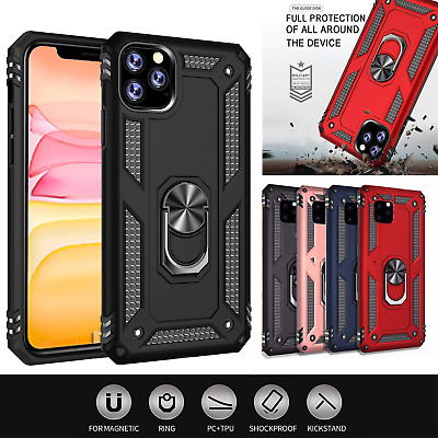 AU9.95 • Buy For Apple IPhone 11 11 Pro Max Heavy Duty Shockproof Magnetic Ring Case Cover