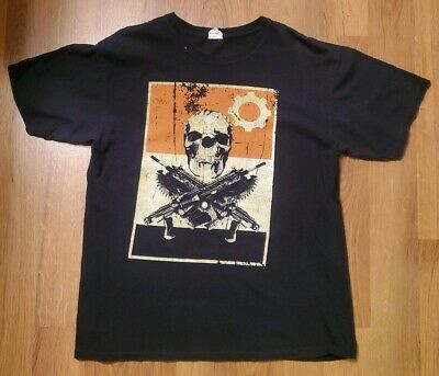 $100 • Buy OG Slick Dissizit Gears Of War 3 Skull & Lancers Hot Topic Exclusive T-Shirt L