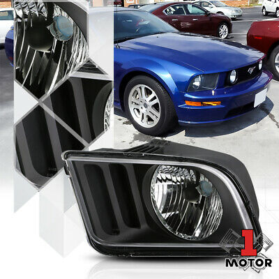 $37.68 • Buy Left Driver Side Black Headlight Head Lamp Assembly For 05-09 Ford Mustang Pony