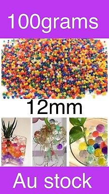 AU11.90 • Buy 100 Grams 10mm Orbeez Mixed Colour Crystal Water Plant Beads Bio Hydro Ball Gel$
