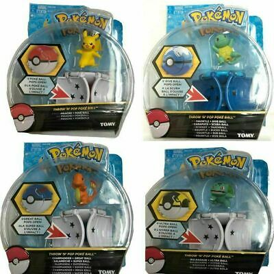 Pokemon GO UK Pikachu Throw 'N' Pop Poke Ball Action Figures Doll Kids Toys Gift • 7.99£