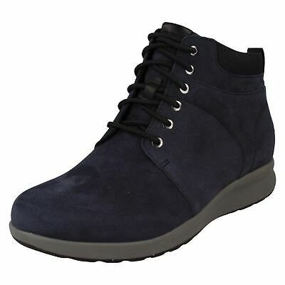 Ladies Clarks Unstructured Lace Up Heeled Nubuck Ankle Boots Un Adorn Walk • 88.99£