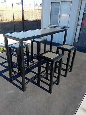 AU899 • Buy 5 Piece Outdoor Bar Table And Stools Set New Outdoor Bar Furniture Set