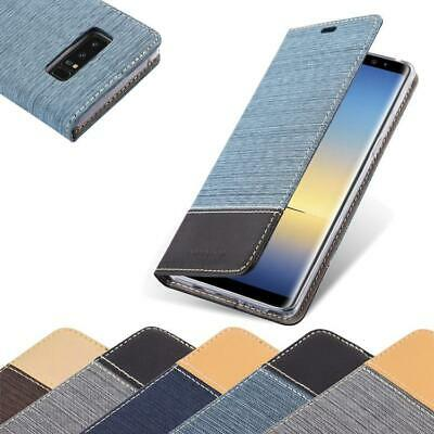 $ CDN11.99 • Buy Case For Samsung Galaxy NOTE 8 Phone Cover Denim Style Protective Wallet Book