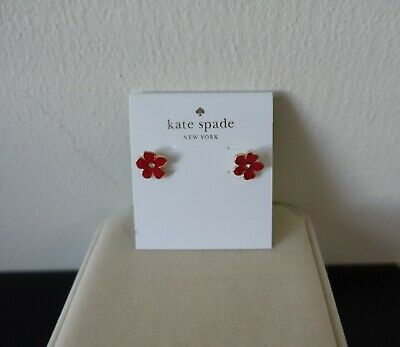 $ CDN24.18 • Buy Kate Spade Red Flower Earrings. New