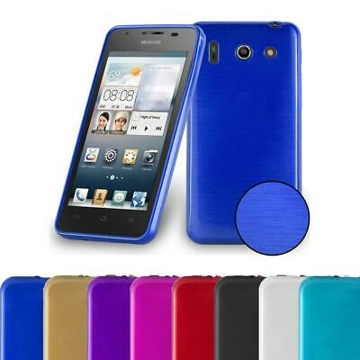 AU7.87 • Buy Silicone Case For Huawei ASCEND G510 Shock Proof Cover Metallic Brushed TPU