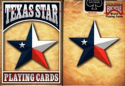 Bicycle Playing Cards - Texas Star U.S.P.C.C. New Sealed Deck • 5.89£
