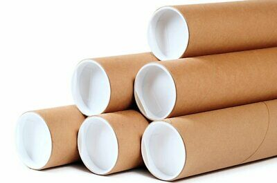 $12.99 • Buy Premium Kraft Mailing Shipping Tubes 1.5-Inch By 12-Inch 5-PACK