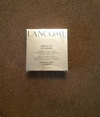LANCOME Miracle Cushion Foundation Refill 555 Suede C 14g NEW Genuine • 9.99£