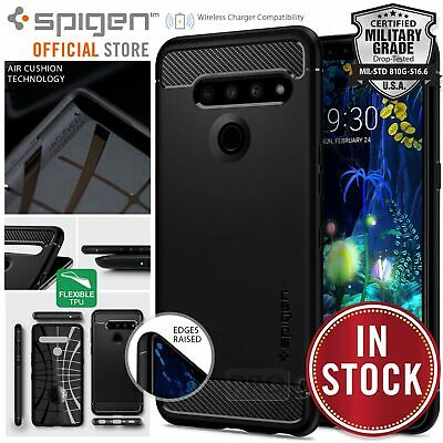 AU19.99 • Buy Genuine Spigen Rugged Armor Resilient Ultra Soft Cover For LG V50 ThinQ Case