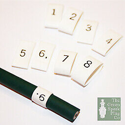 £3.01 • Buy Heat Shrink Cable Markers Ignition White & Black Text HT Plug Lead Numbers 1-8