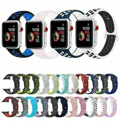 $ CDN9.85 • Buy IWatch Replacement Silicone Sport Band For Apple Watch Series 5/4/3/2/1 38/42mm