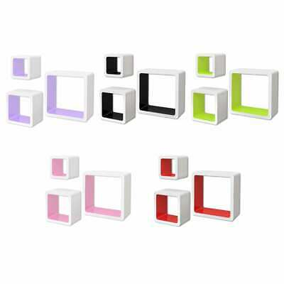 AU52.99 • Buy VidaXL 3/6x Wall Cube Shelves Display Hanging Storage Bookcase Multi Colours