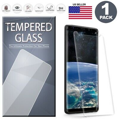 $ CDN4.98 • Buy Full Tempered Glass Screen Protector For Samsung Galaxy Note 9 8 S8 S9 Plus +