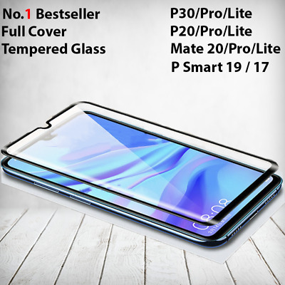For Huawei P20 P30 Pro Lite Mate 20 Tempered Glass Full Screen Protector Cover • 4.48£