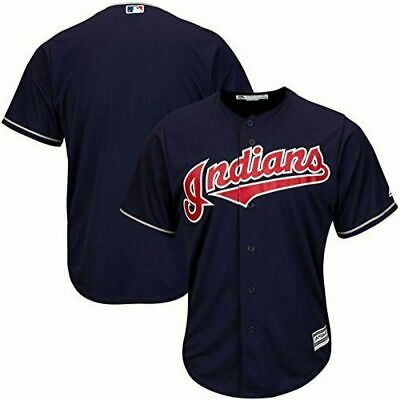 $38.99 • Buy Cleveland Indians Mlb Majestic Authentic Cool Base Adult Navy Blue Jersey Nwt