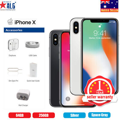 AU989.95 • Buy New Apple IPhone X 256GB  Factory Unlocked Black Silver Smartphone In Sealed Box