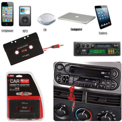 RED Car Audio Tape Cassette To Jack AUX For IPOD MP3 IPhone 3.5mm Connector • 3.95£