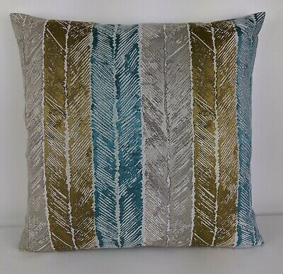 Harlequin Walchia Fabric - Gold/Peacock/Shell Cushion Cover Double Sided 18 X18  • 12.99£