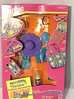 $ CDN19.02 • Buy Vintage 1993 Paint And Dazzle Barbie Fashion Accessories Set Fun At The Beach