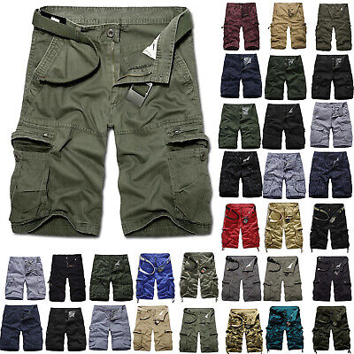 $22.70 • Buy Mens Army Military Cargo Combat Shorts Summer Camo Short Pants Casual Trousers