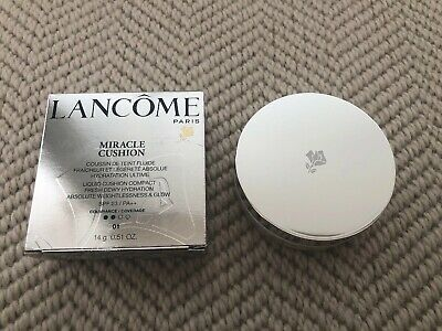 Lancome Miracle Cushion Conpact Fresh Dewy Hydration SPF 23 01 Pure Porcelain • 29.99£