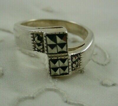 $14.99 • Buy CHARLES WINSTON Signed CW Marcasite Sterling Silver Ring Size 7.75