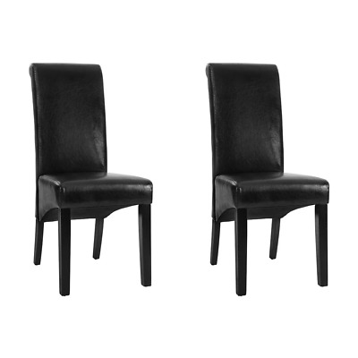 AU129.37 • Buy Artiss Set Of 2 Dining Chairs French Provincial Kitchen Cafe PU Leather Padded H