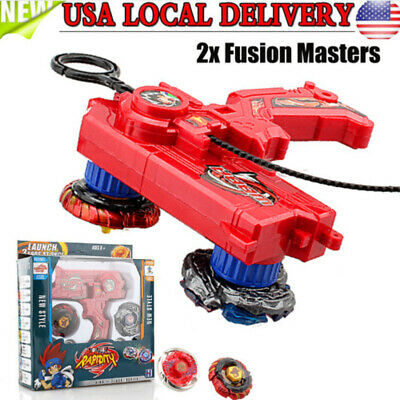 $12.21 • Buy New Metal Fusion Fight Fury Masters 2x 4D Beyblade Set Hybrid Launcher Kid Gift