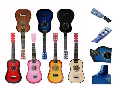 23  Childrens Wooden Acoustic Guitar Beginners Musical Instrument Toy Gift Xmas • 18.99£