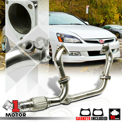 $151.89 • Buy SS Exhaust Header Manifold+Y-Pipe For 03-07 Honda Accord 3.0 V6 J30A1 CM6/CM8