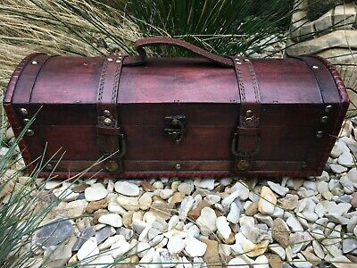 Witches Wooden Rustic Supplies Chest ~ Altar Items ~ Candles ~ Spells Etc • 16.99£