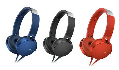 AU67.09 • Buy Sony MDR-XB550AP EXTRA BASS Headphones W/Mic Assorted Colors