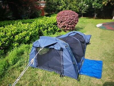 AU89 • Buy Double Swag Tent Bivy Tent With Aluminium Poles For Camping Fishing Canvas Hoop