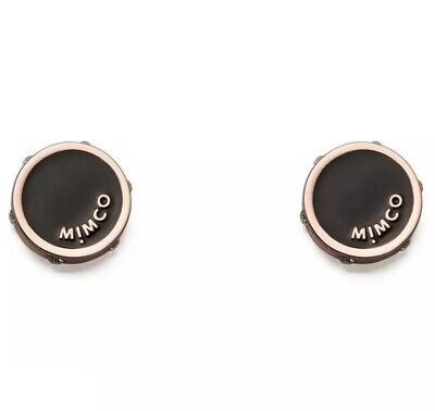 AU29.99 • Buy MIMCO NUANCE Black Rose Gold Stud Earrings • Authentic RRP$49.95